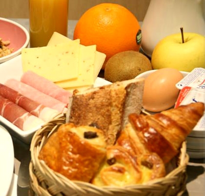 Le petit déjeuner d'Astoria Hôtel